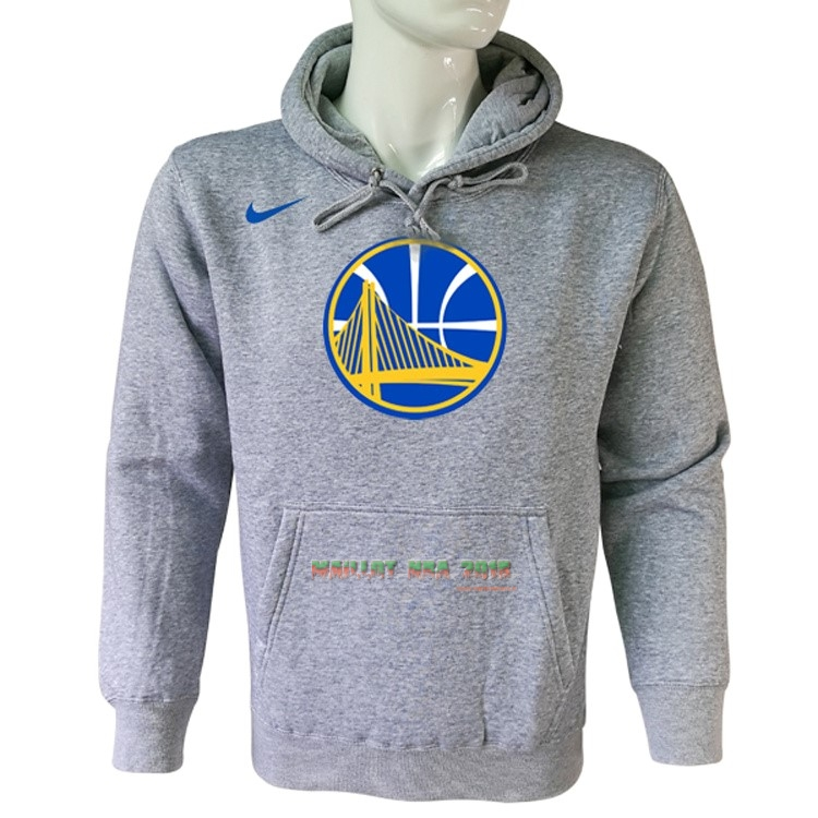 Hoodies NBA Golden State Warriors Nike Gris