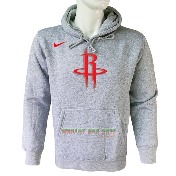Hoodies NBA Houston Rockets Nike Gris