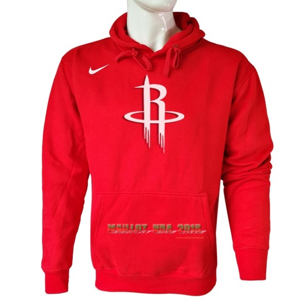 Hoodies NBA Houston Rockets Nike Rouge