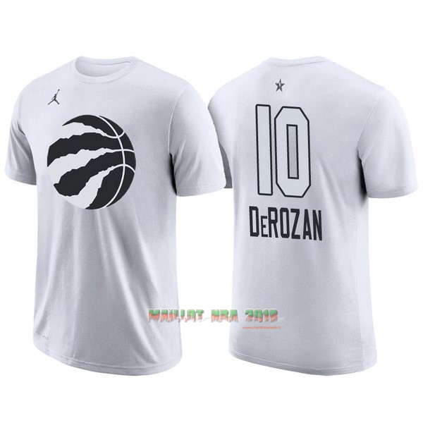 Maillot NBA 2018 All Star Manche Courte NO.10 DeMar DeRozan Blanc