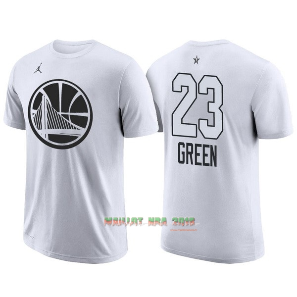 Maillot NBA 2018 All Star Manche Courte NO.23 Draymond Green Blanc