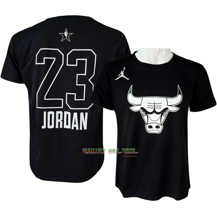 Maillot NBA 2018 All Star Manche Courte NO.23 Michael Jordan Noir