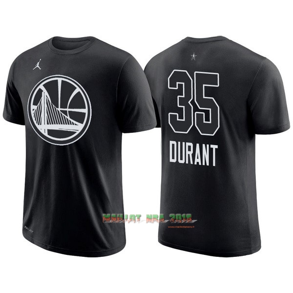 Maillot NBA 2018 All Star Manche Courte NO.35 Kevin Durant Noir