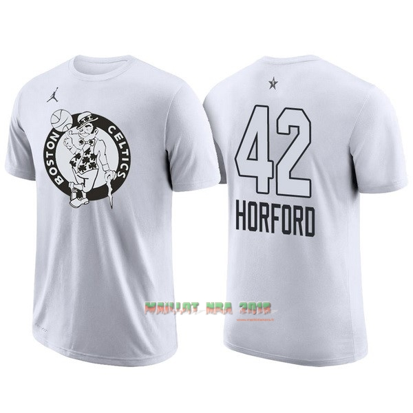 Maillot NBA 2018 All Star Manche Courte NO.42 Al Horford Blanc