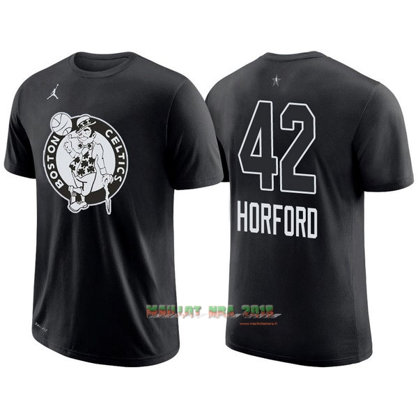 Maillot NBA 2018 All Star Manche Courte NO.42 Al Horford Noir