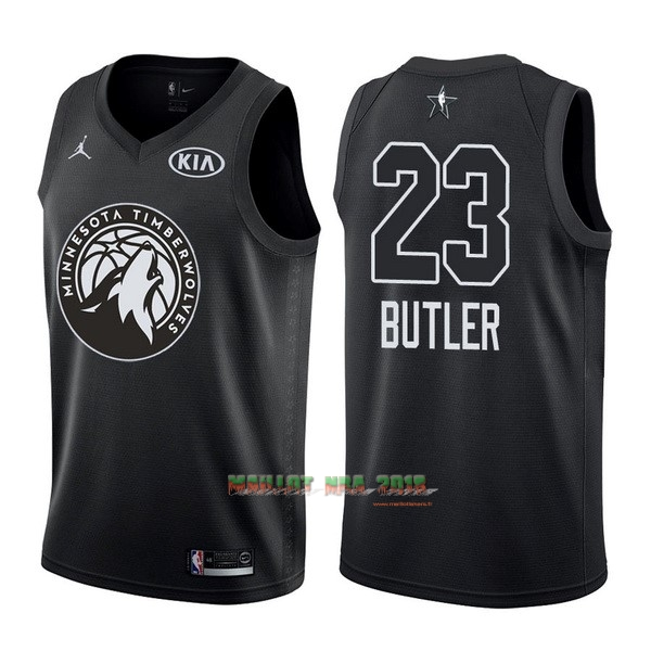 Maillot NBA 2018 All Star NO.23 Jimmy Butler Noir