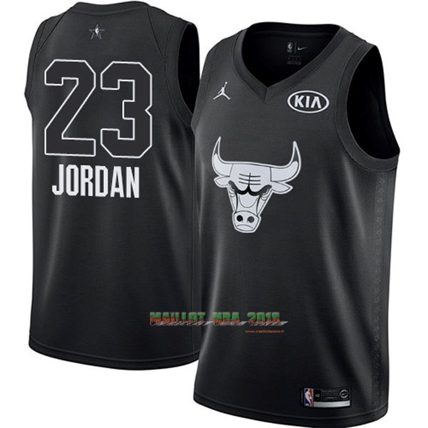 Maillot NBA 2018 All Star NO.23 Michael Jordan Noir