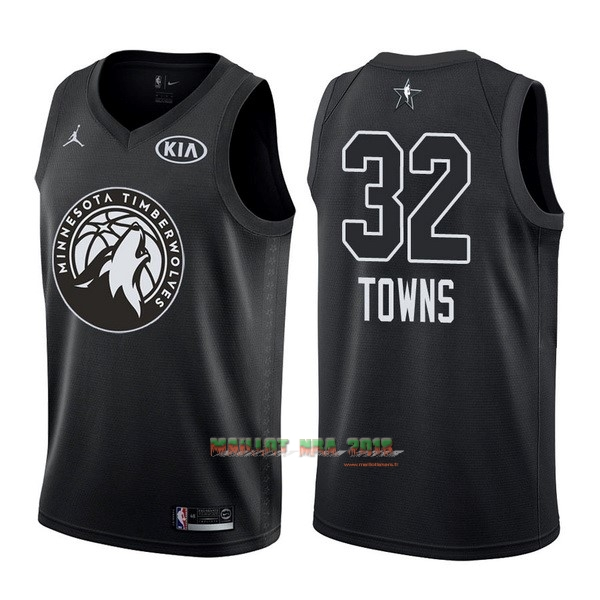 Maillot NBA 2018 All Star NO.32 Karl Anthony Towns Noir