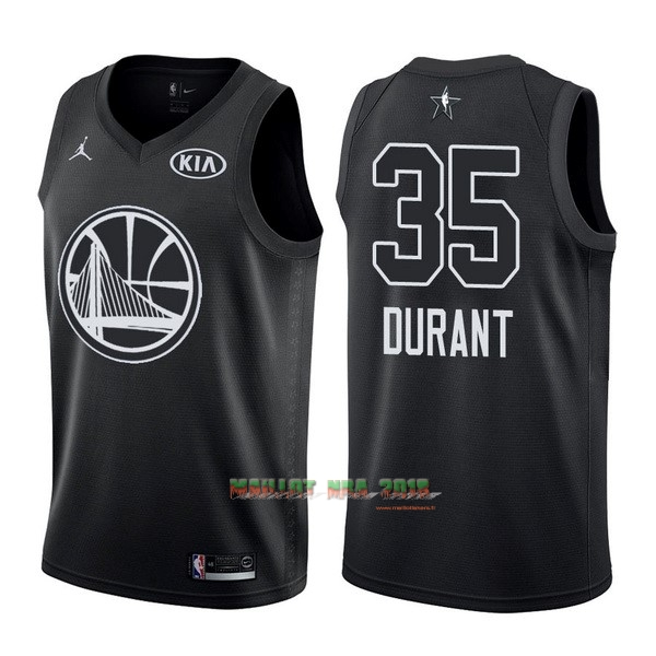 Maillot NBA 2018 All Star NO.35 Kevin Durant Noir