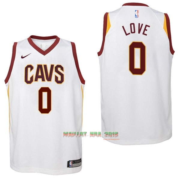 Maillot NBA Enfant Cleveland Cavaliers NO.0 Kevin Love Blanc Association