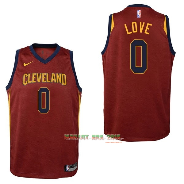 Maillot NBA Enfant Cleveland Cavaliers NO.0 Kevin Love Rouge Icon