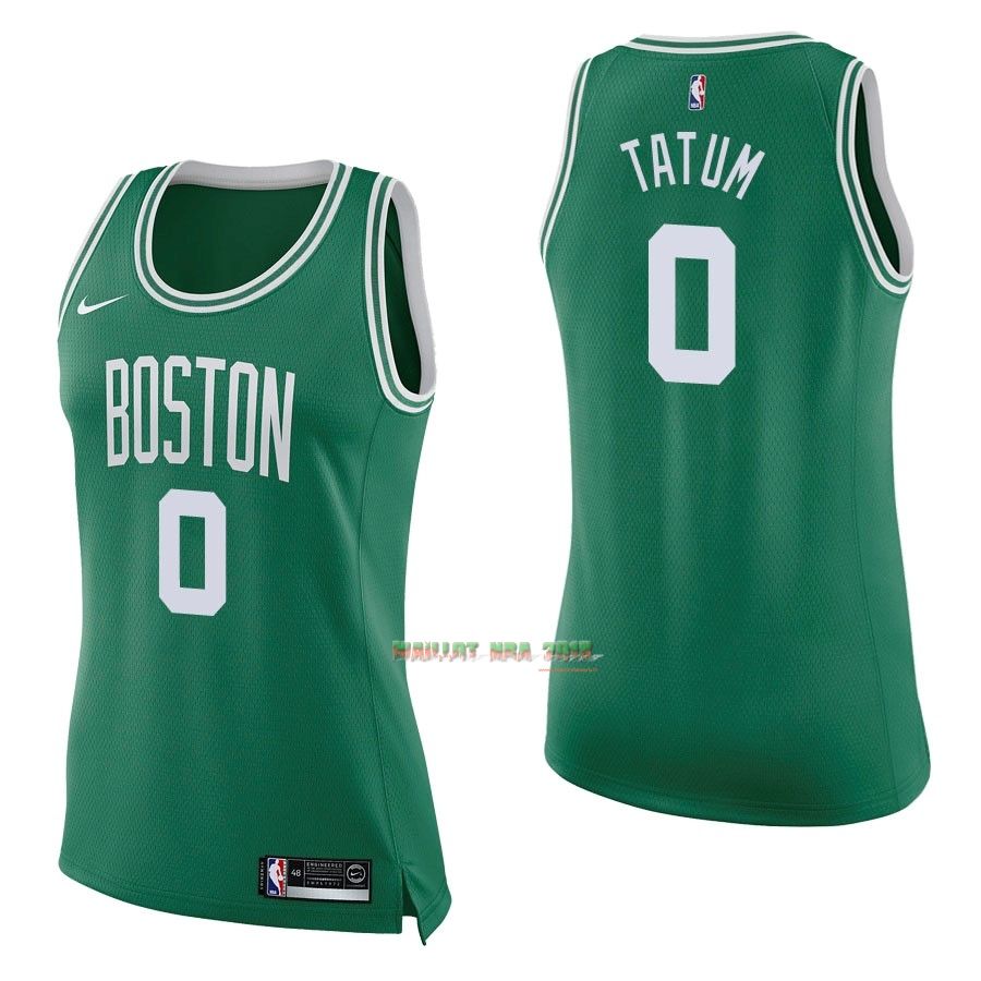 Maillot NBA Femme Boston Celtics NO.0 Jayson Tatum Vert Icon