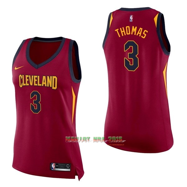 Maillot NBA Femme Cleveland Cavaliers NO.3 Isaiah Thomas Rouge Icon