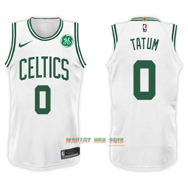 Maillot NBA Nike Boston Celtics NO.0 Jayson Tatum Blanc