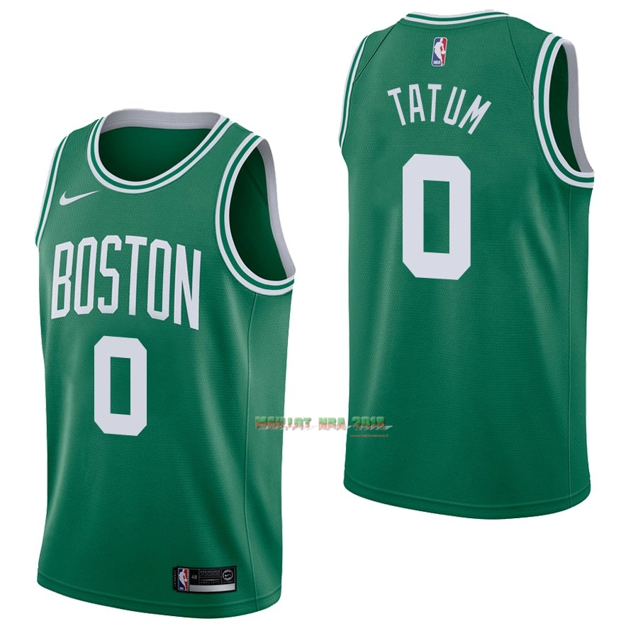 Maillot NBA Nike Boston Celtics NO.0 Jayson Tatum Vert Icon