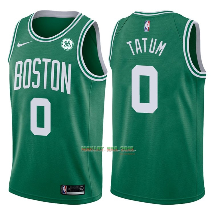 Maillot NBA Nike Boston Celtics NO.0 Jayson Tatum Vert