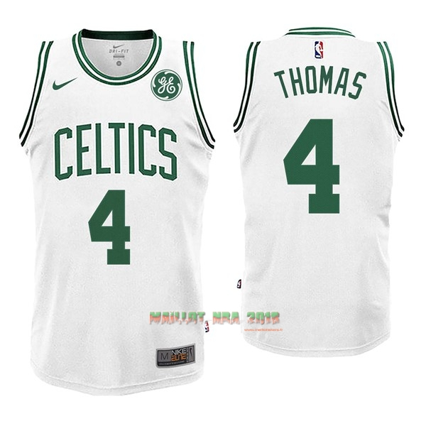 Maillot NBA Nike Boston Celtics NO.4 Isaiah Thomas Blanc