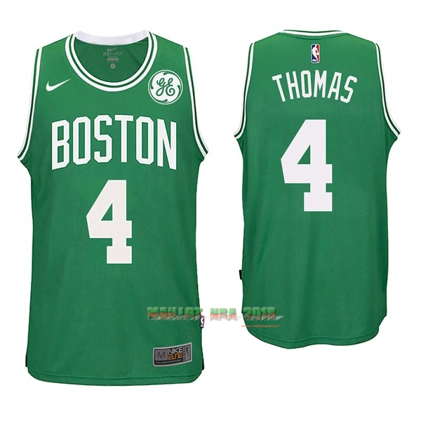 Maillot NBA Nike Boston Celtics NO.4 Isaiah Thomas Vert