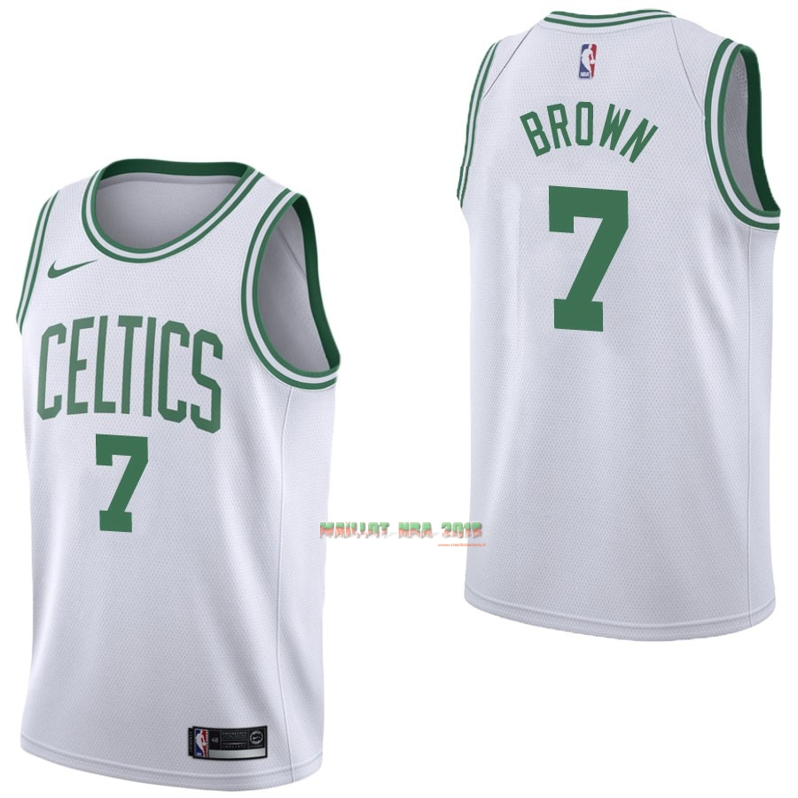 Maillot NBA Nike Boston Celtics NO.7 Jaylen Brown Blanc Association