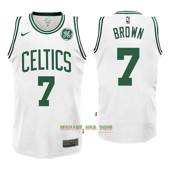 Maillot NBA Nike Boston Celtics NO.7 Jaylen Brown Blanc