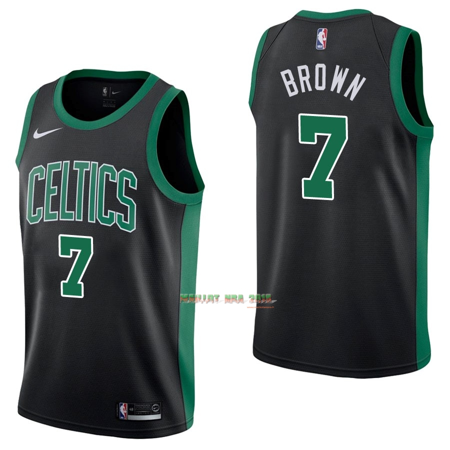 Maillot NBA Nike Boston Celtics NO.7 Jaylen Brown Noir Statement