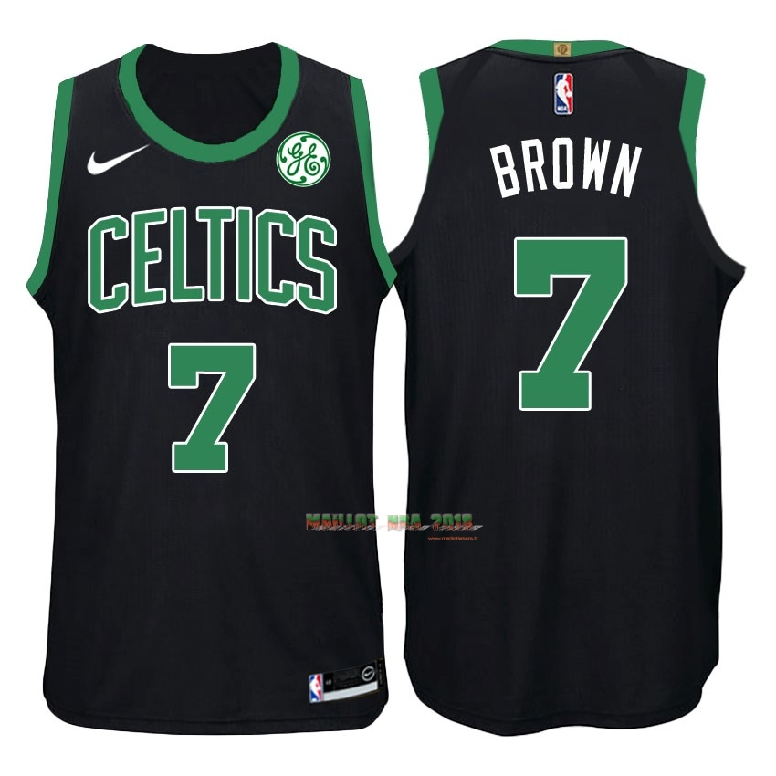 Maillot NBA Nike Boston Celtics NO.7 Jaylen Brown Noir