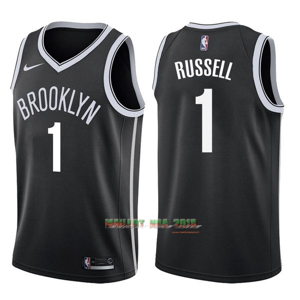Maillot NBA Nike Brooklyn Nets NO.1 D'Angelo Russell Noir Icon