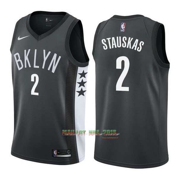 Maillot NBA Nike Brooklyn Nets NO.2 Akil Mitchell Noir Statement