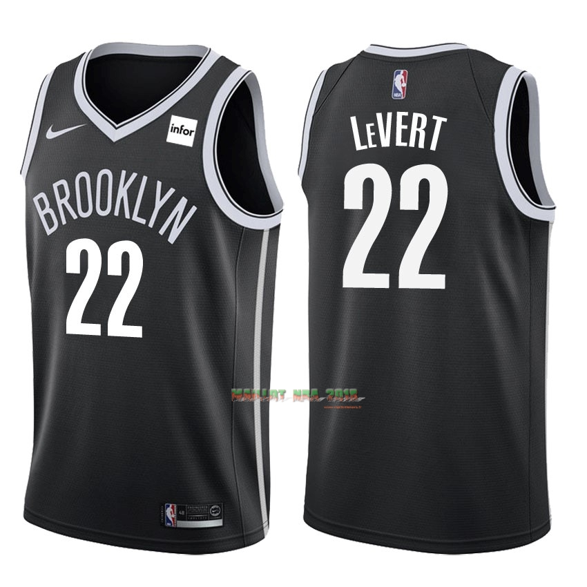 Maillot NBA Nike Brooklyn Nets NO.22 Caris LeVert Noir