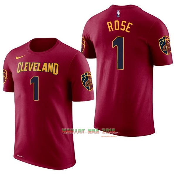 Maillot NBA Nike Cleveland Cavaliers Manche Courte NO.1 Derrick Rose Rouge