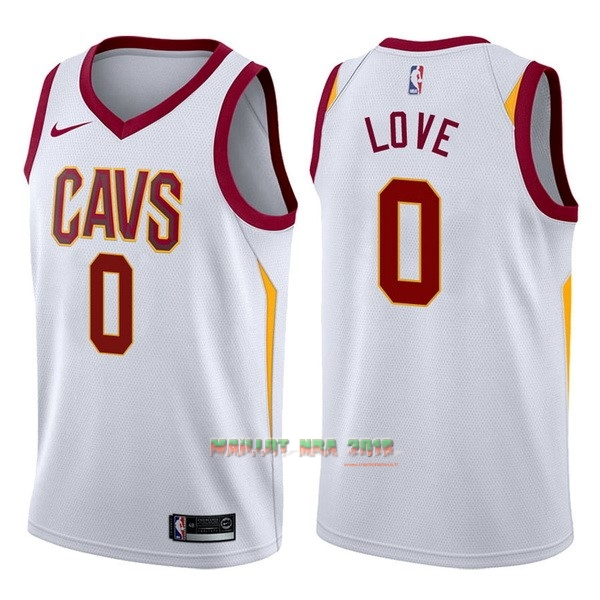 Maillot NBA Nike Cleveland Cavaliers NO.0 Kevin Love Blanc Association