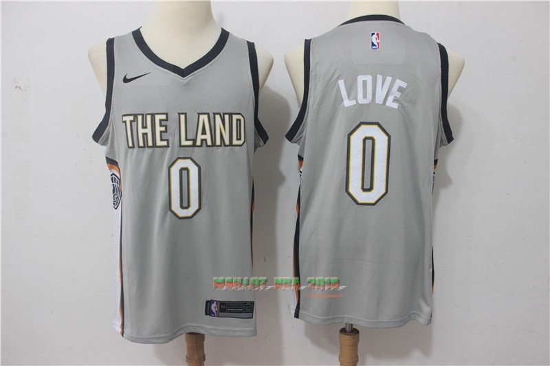Maillot NBA Nike Cleveland Cavaliers NO.0 Kevin Love Nike Gris Ville