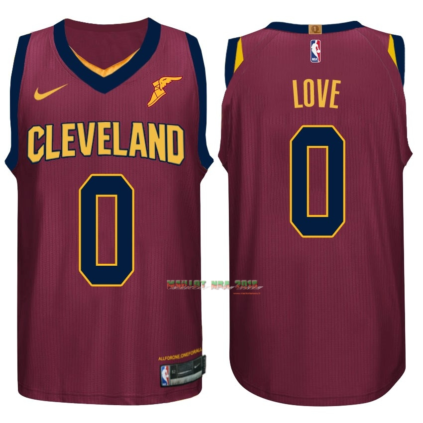 Maillot NBA Nike Cleveland Cavaliers NO.0 Kevin Love Rouge