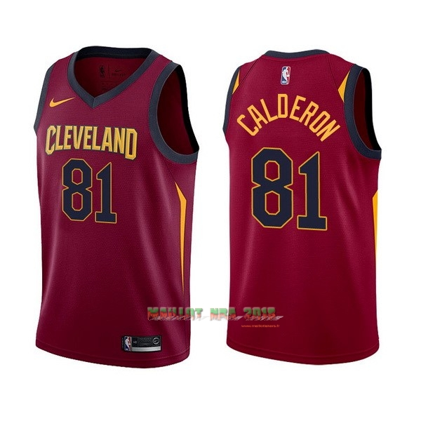 Maillot NBA Nike Cleveland Cavaliers NO.81 Jose Calderon Rouge Icon