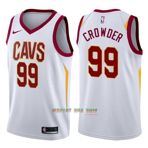 Maillot NBA Nike Cleveland Cavaliers NO.99 Jae Crowder Blanc Association