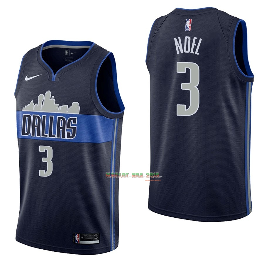 Maillot NBA Nike Dallas Mavericks NO.3 Nerlens Noel Noir Statement