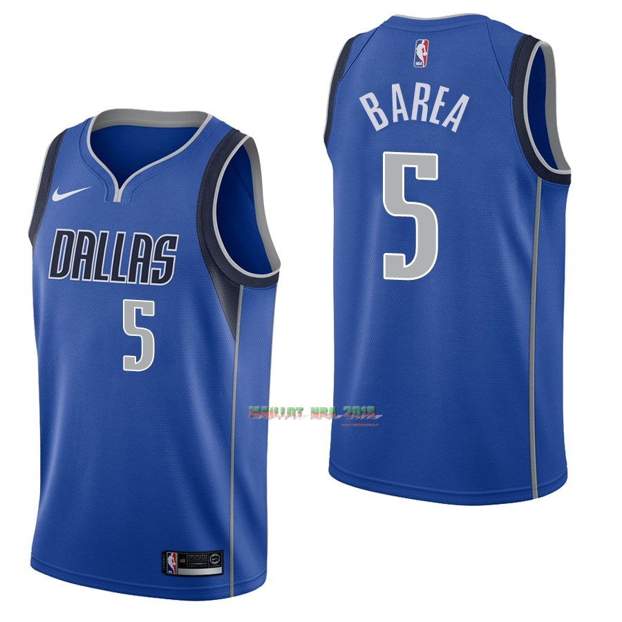 Maillot NBA Nike Dallas Mavericks NO.5 J.J. Barea Bleu Icon