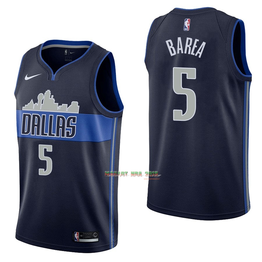 Maillot NBA Nike Dallas Mavericks NO.5 J.J. Barea Noir Statement