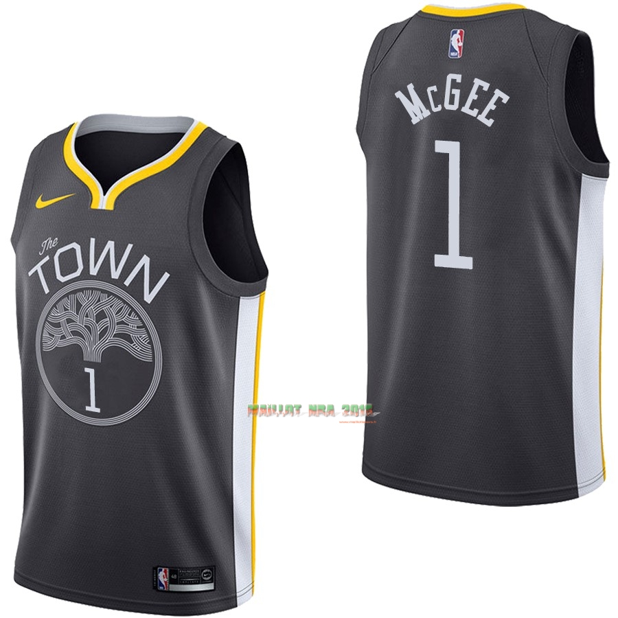 Maillot NBA Nike Golden State Warriors NO.1 JaVale McGee Noir Statement
