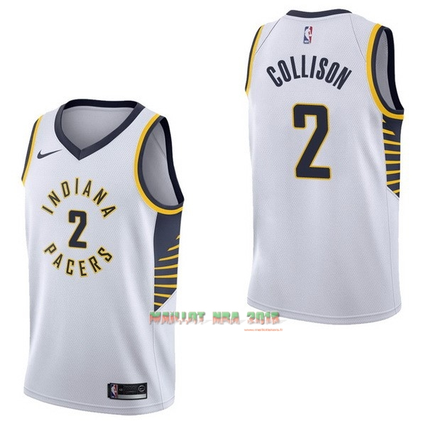 Maillot NBA Nike Indiana Pacers NO.2 Darren Collison Blanc Association