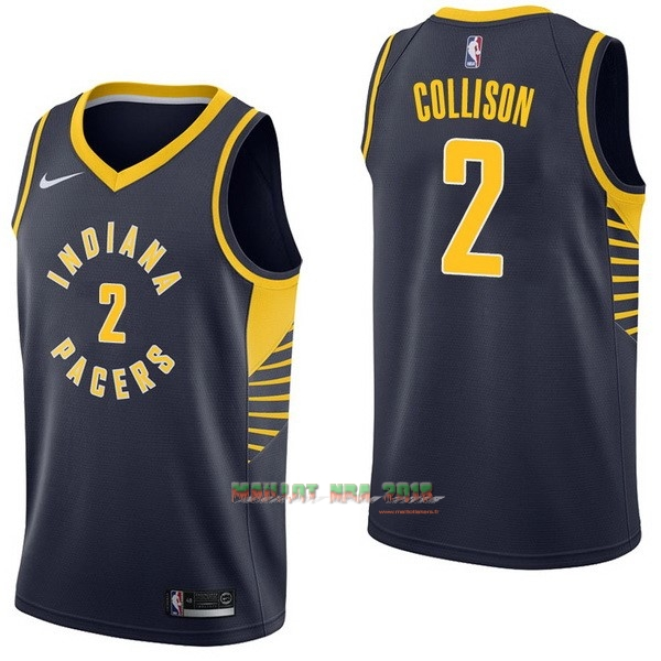 Maillot NBA Nike Indiana Pacers NO.2 Darren Collison Marine Icon