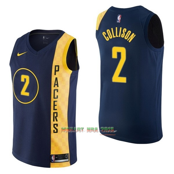 Maillot NBA Nike Indiana Pacers NO.2 Darren Collison Nike Marine Ville