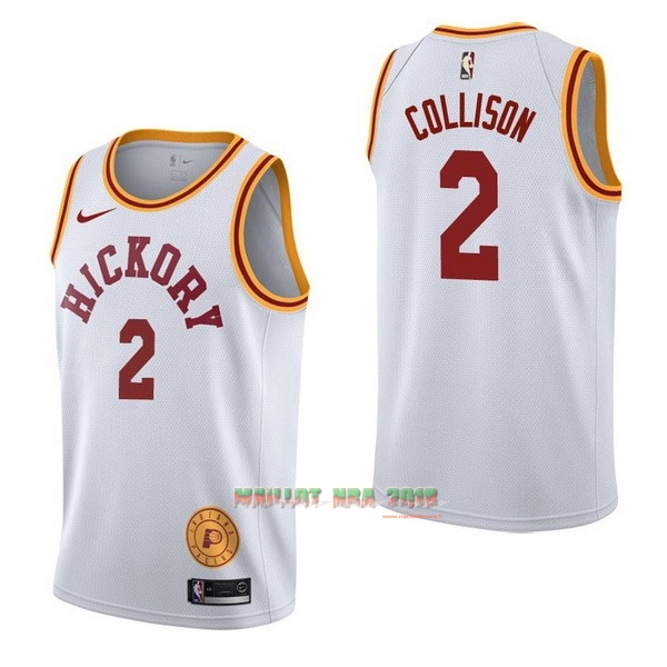 Maillot NBA Nike Indiana Pacers NO.2 Darren Collison Retro Blanc