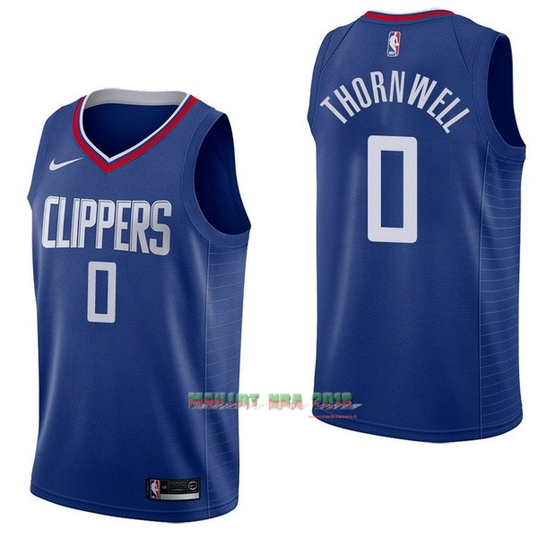 Maillot NBA Nike Los Angeles Clippers NO.0 Sindarius Thornwell Bleu Icon