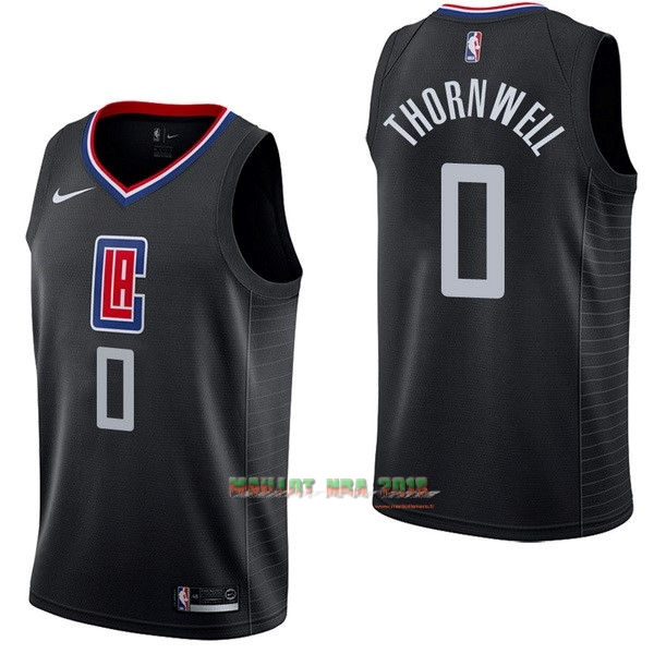 Maillot NBA Nike Los Angeles Clippers NO.0 Sindarius Thornwell Noir Statement