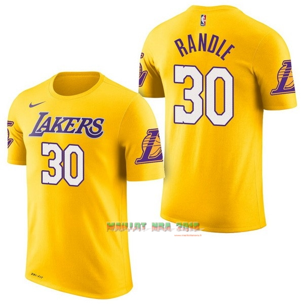 Maillot NBA Nike Los Angeles Lakers Manche Courte NO.30 Julius Randle Jaune