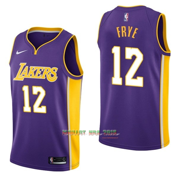 Maillot NBA Nike Los Angeles Lakers NO.12 Channing Frye Pourpre Statement