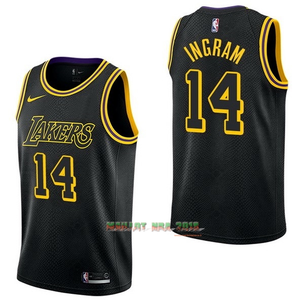 Maillot NBA Nike Los Angeles Lakers NO.14 Brandon Ingram Nike Noir Ville
