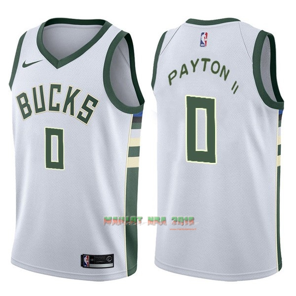Maillot NBA Nike Milwaukee Bucks NO.0 Gary Payton II Blanc Association