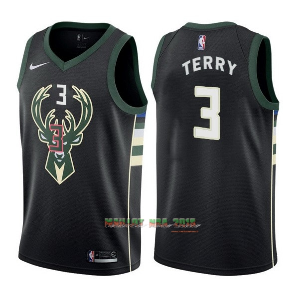 Maillot NBA Nike Milwaukee Bucks NO.3 Jason Terry Noir Statement